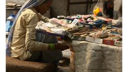 Pahar Ganj - typická prodejkyně