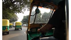 Typický stav provozu v Delhi