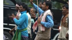 Demonstrace proti nezaměstnanosti na venkově
