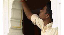 Jaipur - Hotel Kalyan, výzdoba se provádí ručně