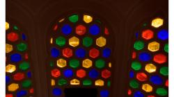 Jaipur - Jawa Mahal - barevná okna