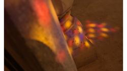Jaipur - Jawa Mahal - barevná okna dělaly hezké efekty po podlaze