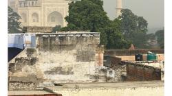 Agra - výhled ze střechy hotelu Sidhartha