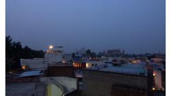 Večerní výhled na Taj Mahal