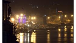 Varanasí - noční pohled na město