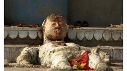 Varanasí - socha na ghátech