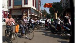 Varanasí - v den odjezdu se konal další svátek