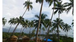 Goa - pohled na Palolem Beach