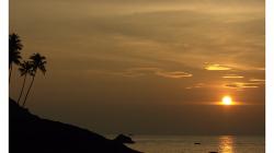 Goa - další kýčovitý západ slunce