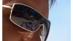 Goa - Palolem Beach - Lubi a v odrazu zleva Heleek, Boyda a Acido