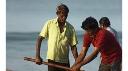 Goa - Palolem Beach - ranní výlov