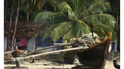 Goa - Palolem Beach - takovéto loďky používají téměř všichni