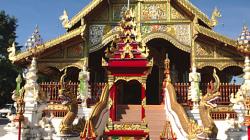 Jeden z chrámů v Chiang Rai