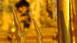 Zlaté hodiny v Chiang Rai