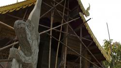 Oprava chrámu, draci se staví nově