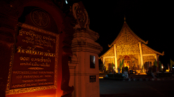 Jeden z chrámů v Chiang Mai