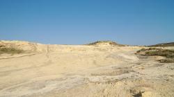 Kdesi na severozápadě ostrova Gozo - říkají tomu Měsíční krajina