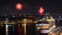 Ohňostroje jsou ve Vallettě snad denně - Fireworks are probably on daily bases in Valletta
