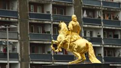 Goldener Reiter a socík